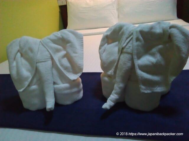 バスタオルの象