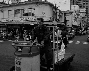 Tsukiji fish market, Tokyo by Alfie Goodrich