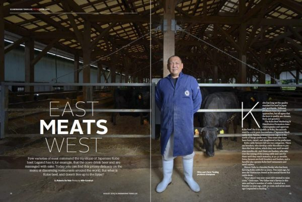 SAS Airlines story on Kobe Beef shot by Alfie Goodrich