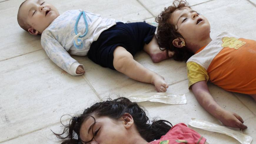 Image result for syria children chemical weapon