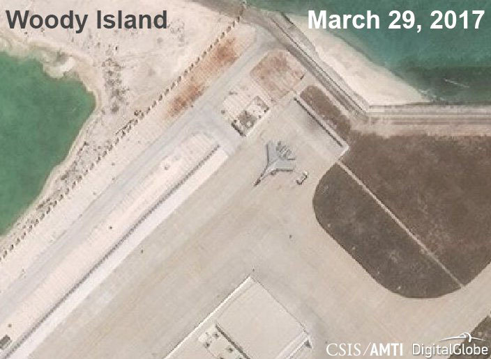 Fighter jet spotted on South China Sea island, more believed in hangars: U.S. think tank