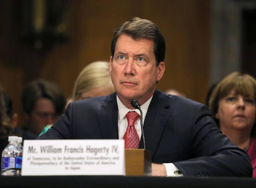 Senate confirms Hagerty as new U.S. ambassador to Japan