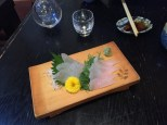 rare fishes from Niigata as sashimi