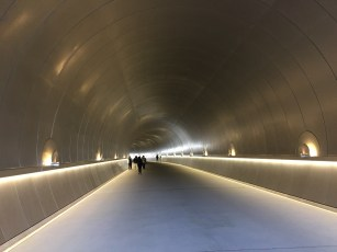 tunnel leading to museum