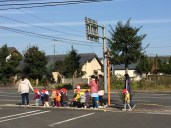 Shimabara - good way to lead toddlers on the road