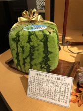 square watermelon produced in Zentsuji city