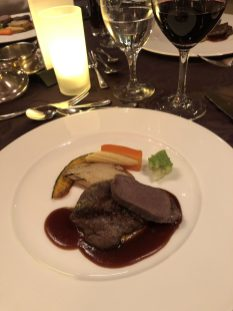 Beef fillet and venison