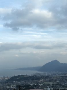 Beppu Bay and city below