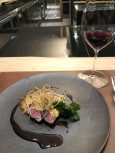excellent grilled Kyushu beef, mushrrom galette