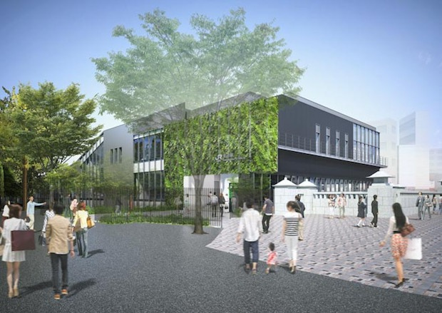 jr harajuku station redesign revamp olympics change glass building
