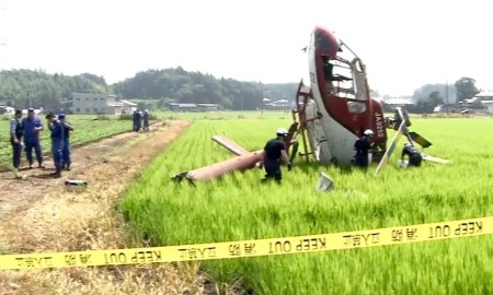 IBARAKI: Cai Helicóptero