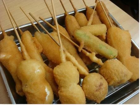 Comida Popular no Japão Kushikatsu