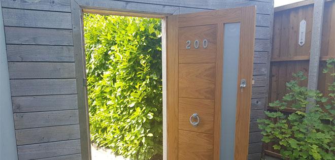 Linear Oak Glazed External Door Wanstead East London