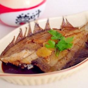 Nitsuke de limande カレイの煮付け