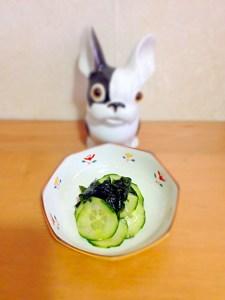 sunomono au concombre et au wakame