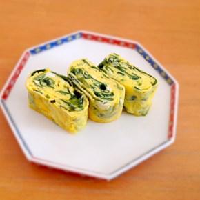 tamagoyaki au wakame ワカメ入り玉子焼き