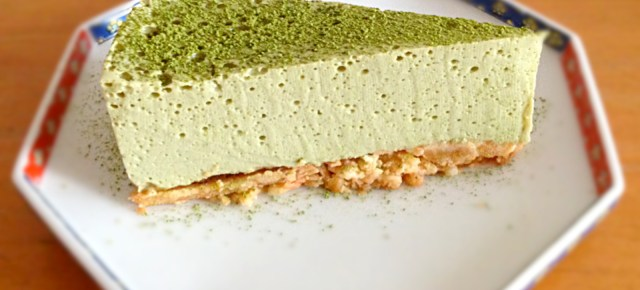 Cheesecake au macha et tofu 抹茶豆腐チーズケーキ