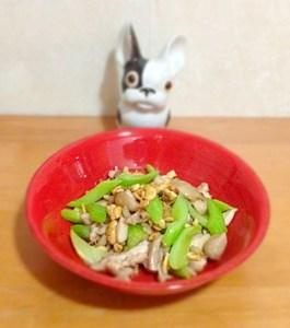 itame de poulet au celeri et noix de cajou