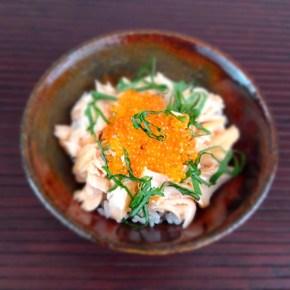Oyakodon de saumon 鮭の親子丼