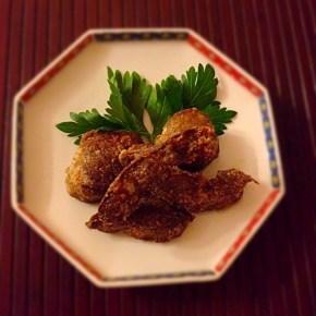 Karaage au foie de veau レバーの唐揚げ