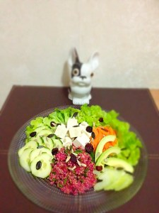 Salade au tofu