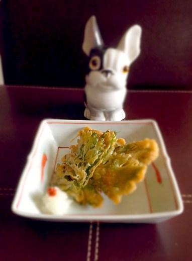 tempura de feuilles de céleri