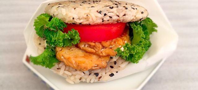 Riceburger Burger au riz vegan ヴィ一ガンライスバーガー