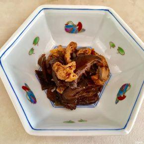 Tsukudani de kombu et shitake 昆布と椎茸の佃煮
