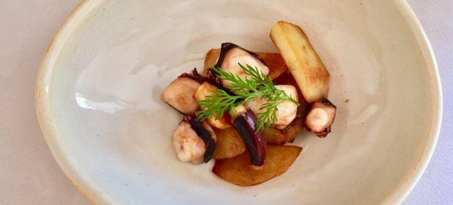 Itamemono de poulpe  et pomme de terre タコとジャガイモの炒め物