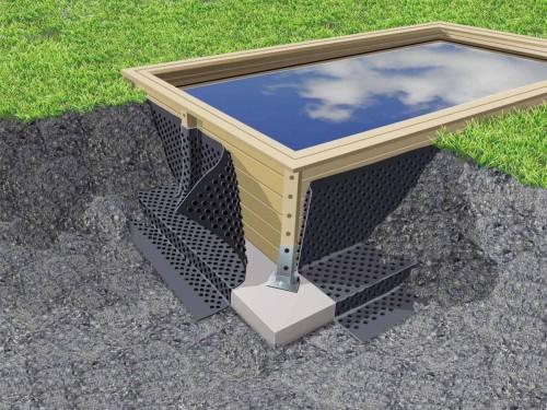 nappe de protection des parois pour piscine bois l 20 x h 1 50 m