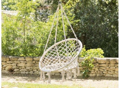 fauteuil suspendu exterieur jardin