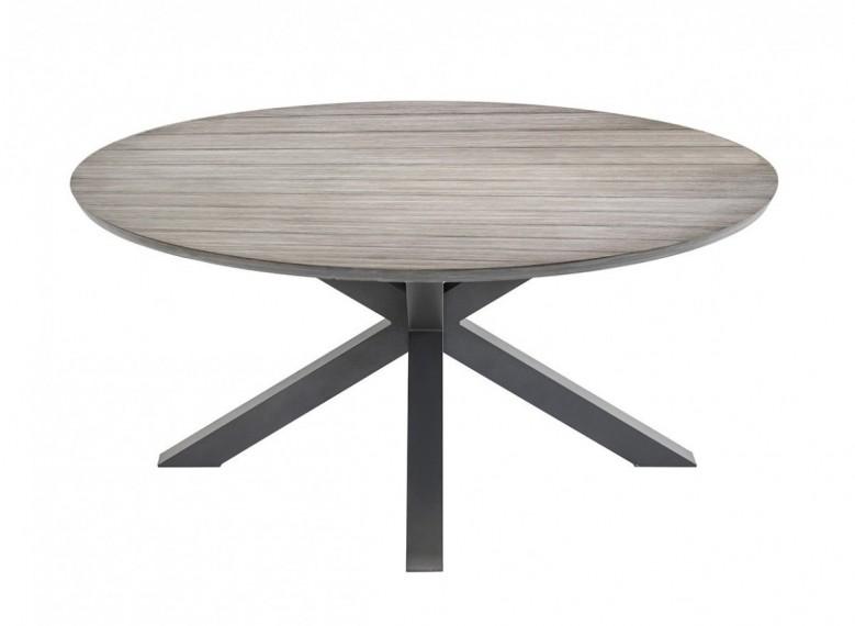 table de jardin ronde embruns o 160 cm table seule