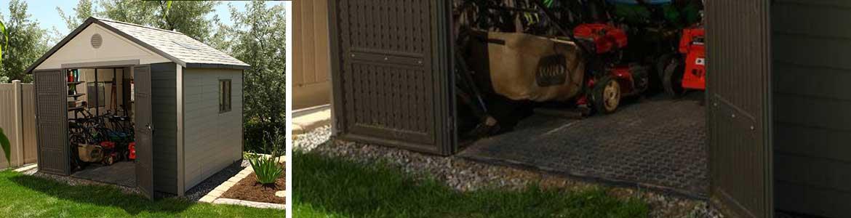 un abri de jardin avec ou sans plancher