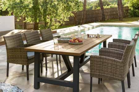 Table De Jardin Rectangulaire Hespride Modle Aura 6 Places