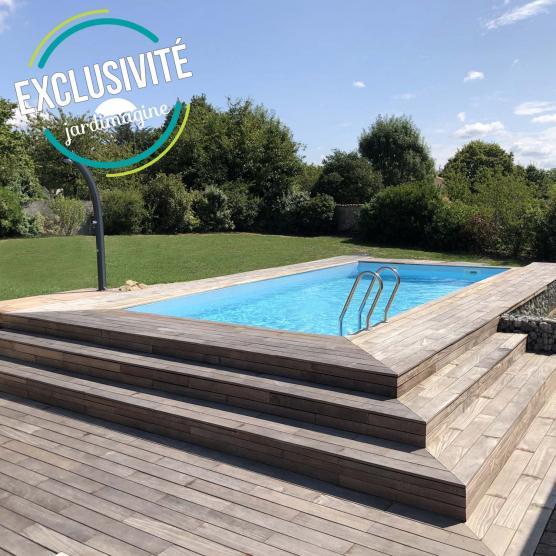 piscine bois rectangulaire anzio 5 70 m x 3 70 m x h 1 36 m