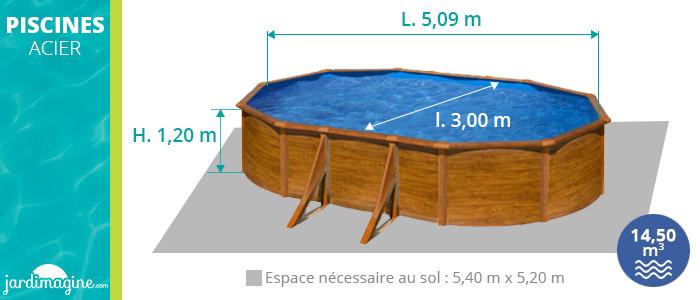 piscine hors sol acier ovale pacific 5