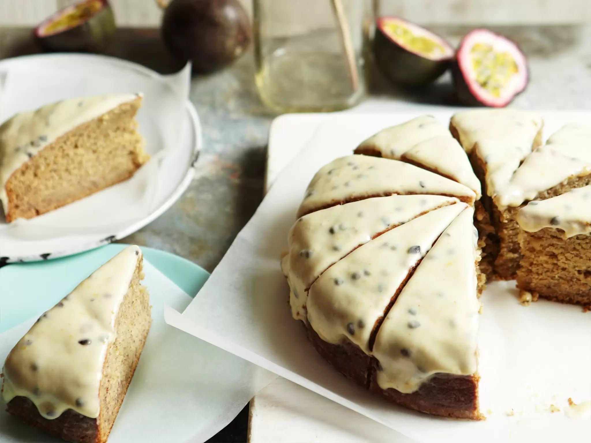 Aww Banana Cake Passionfruit Icing