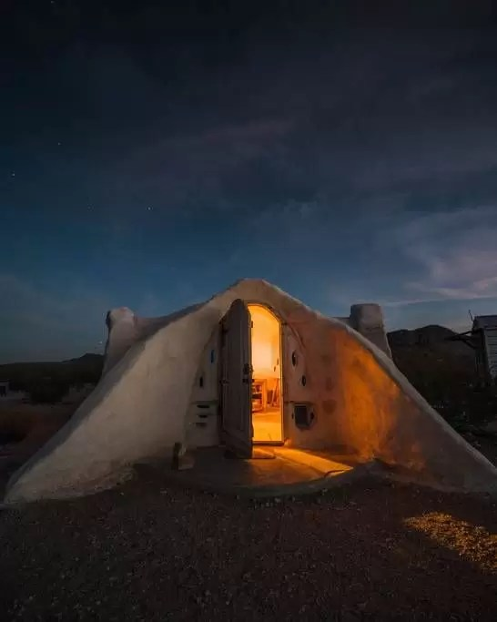 Off-grid Adobe Dome