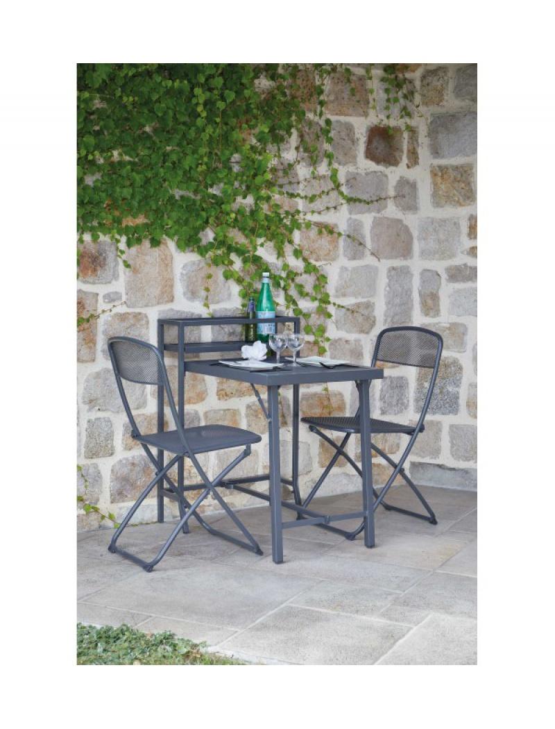 table de balcon rome pliante 2 chaises