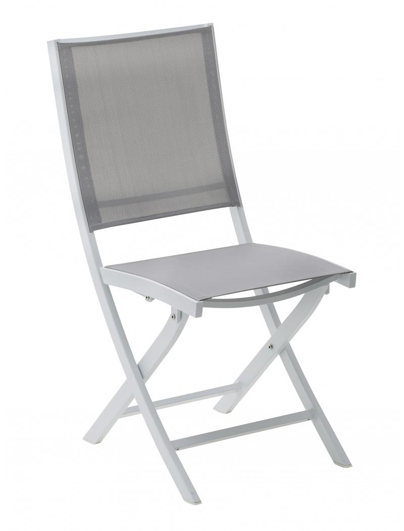 chaise pliante whitestar blanc gris