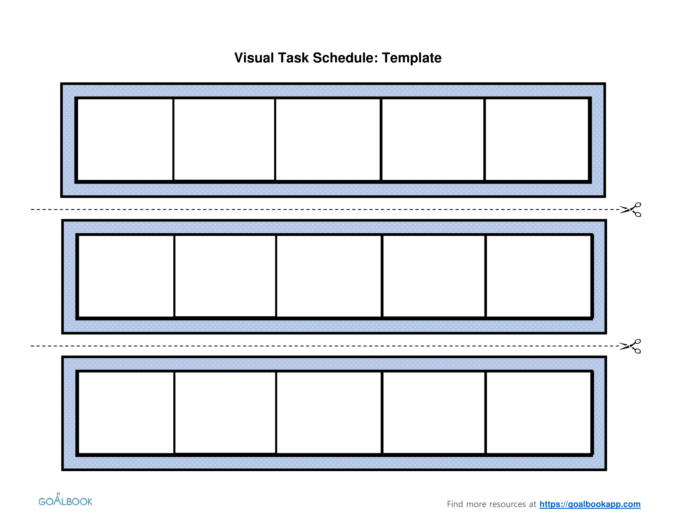 Visual Schedule Template Printable Schedule Template