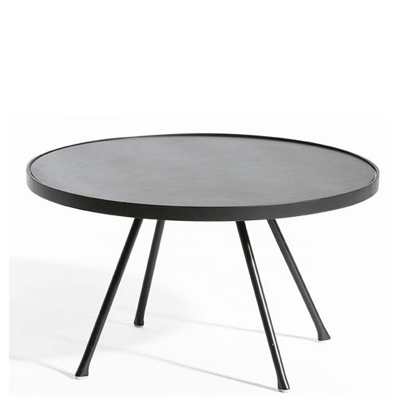 table basse attol aluminium ronde
