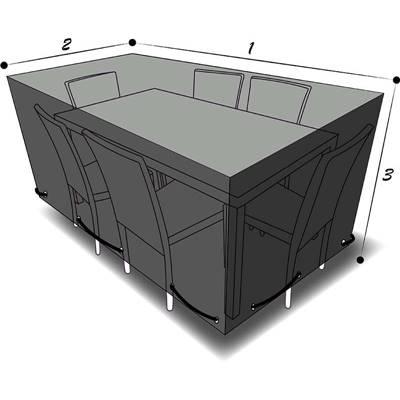 housse de protection pour table rectangulaire 180 x 100 x 70 cm