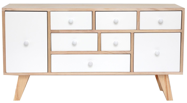 petit meuble en bois 8 tiroirs
