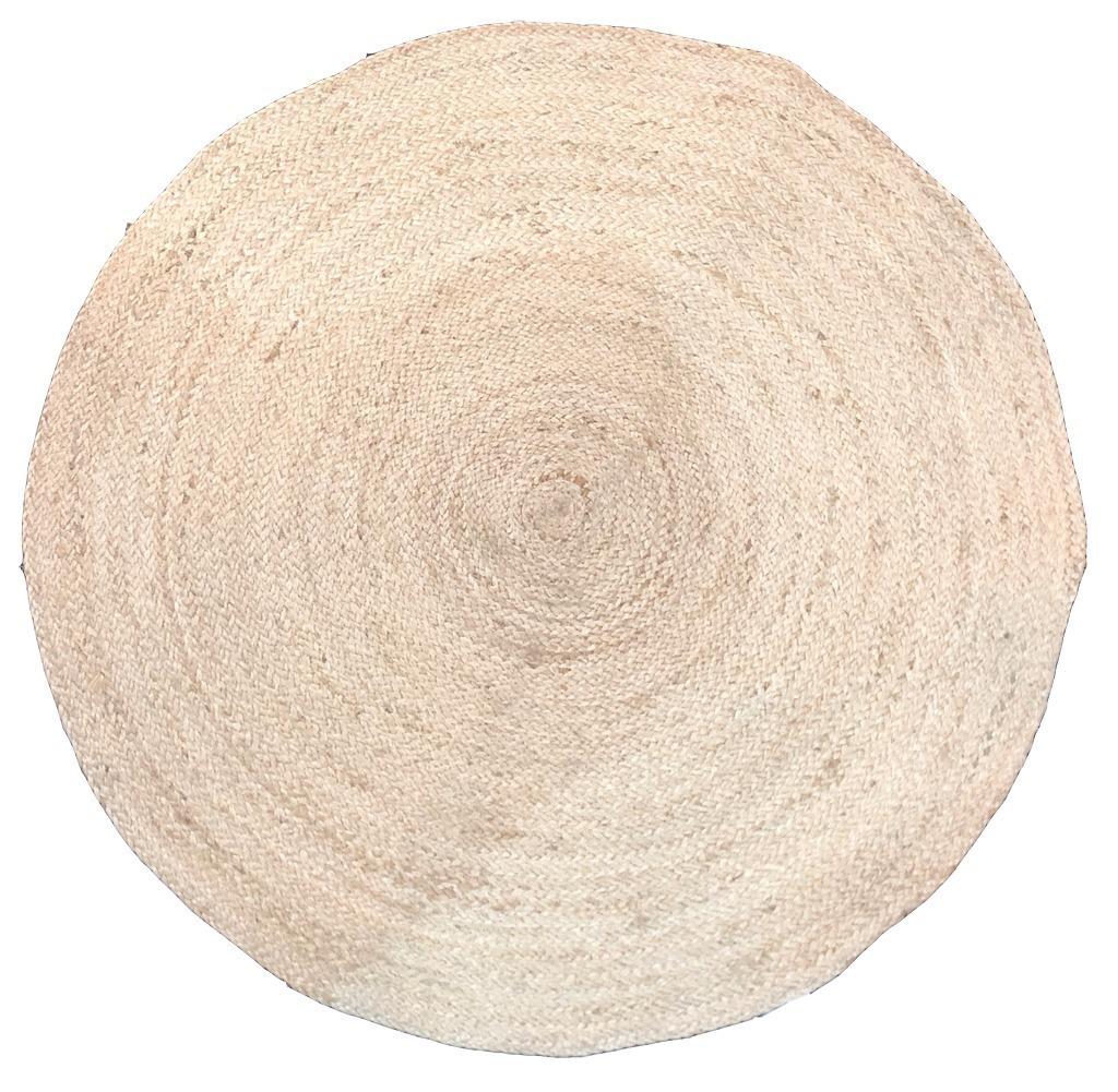 tapis rond en jute naturelle mana