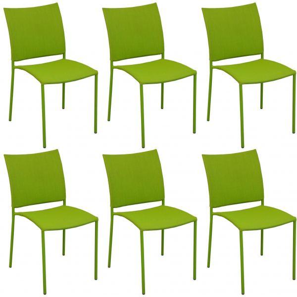 chaise de jardin design bonbon lot de 6