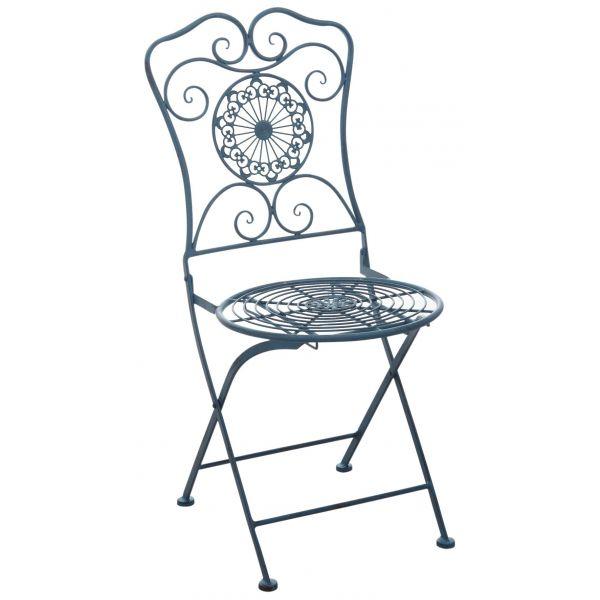 chaise de jardin pliante en metal mandala
