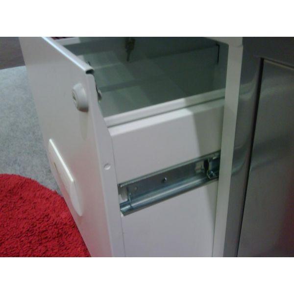 colonne de rangement tiroirs en metal blanc