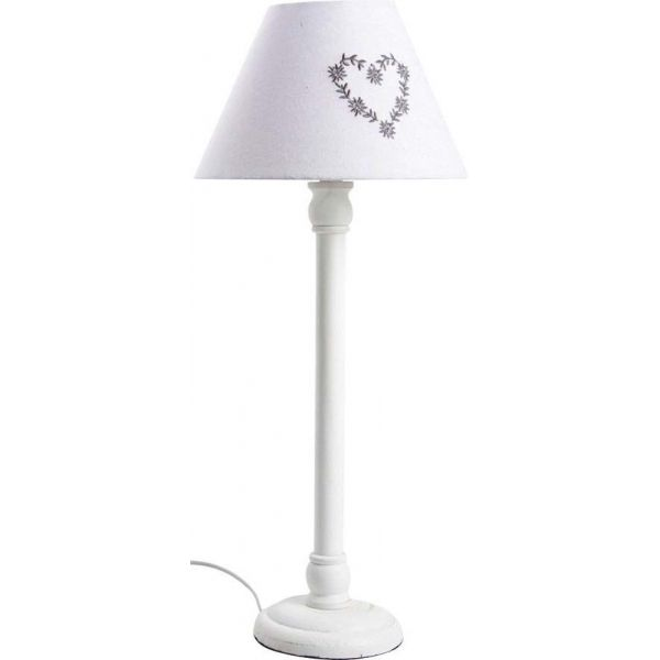 lampe a poser en bois motif coeur
