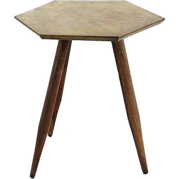 petite table en bois de rose d inde laiton